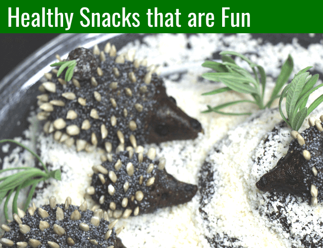 Healthy snacks, hedgehogs