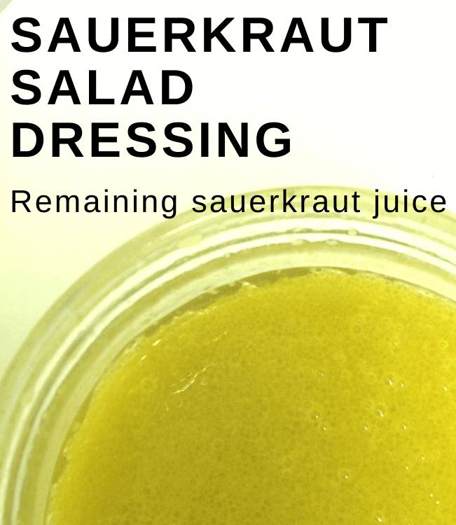 Sauerkraut Salad Dressing