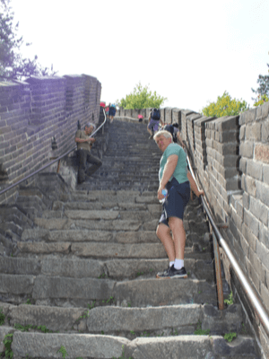 Jim walking The Great Wall