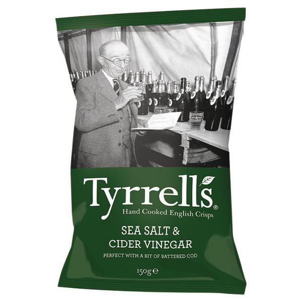Sea Salt And Cider Vinegar Potato Crisps In 150g From Tyrrells