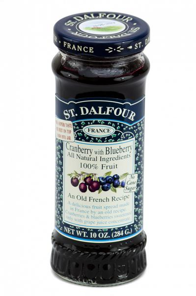 Cranberry and Blueberry Fruit Spread in 284g from St Dalfour