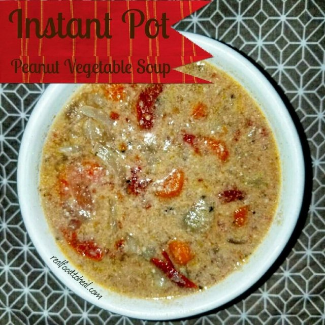 Instant Pot Peanut Vegetable Soup