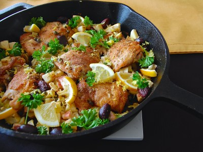 Skillet Chicken Thighs - Make it Paleo 2 Review - Real Food with Dana