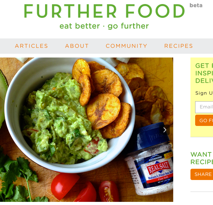 I'm Featured on Further Food!