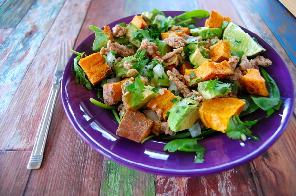 Lemongrass Turkey and Roasted Sweet Potato Salad - Real Food with Dana