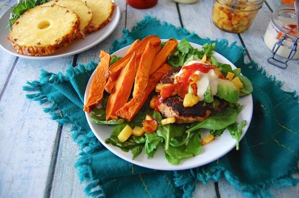 Hawaiian Burgers with Pineapple-Ginger Relish 2.0 - Real Food with Dana
