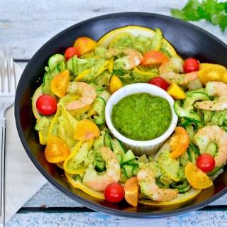 Pesto Shrimp & Squash Fettuccine: Practical Paleo Review