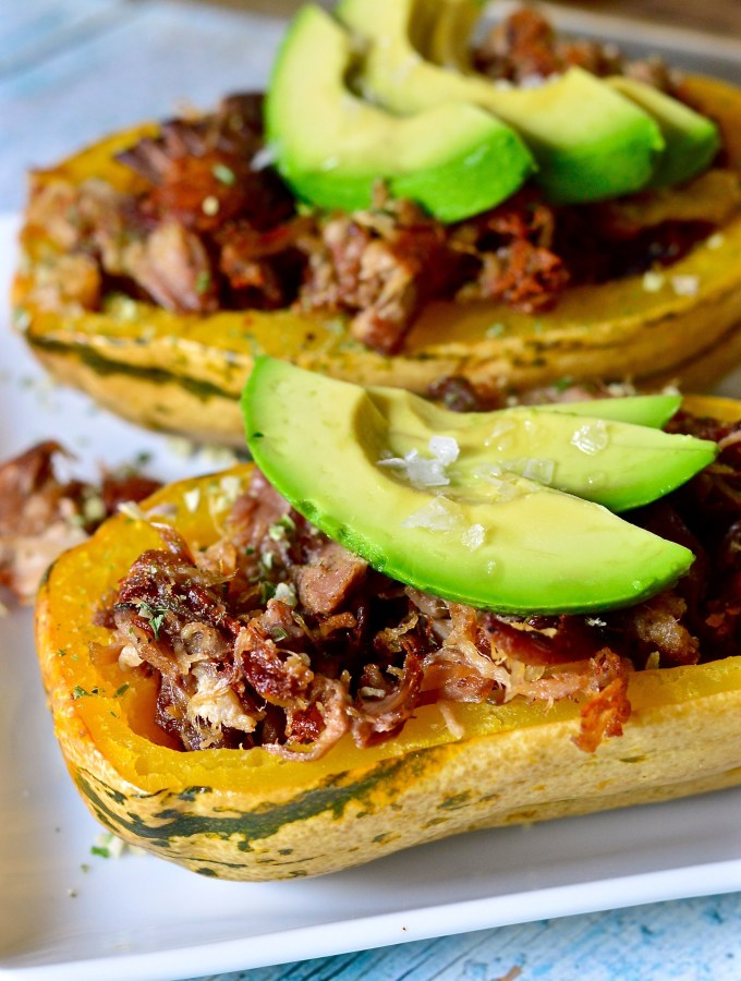 Pulled Pork Stuffed Squash