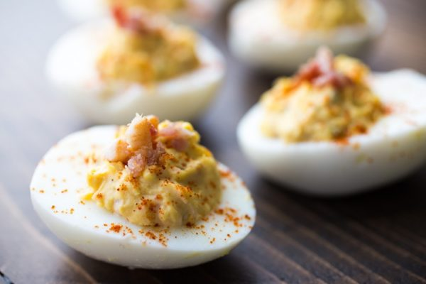 Chipotle Deviled Eggs | Anya's Eats