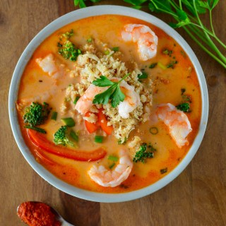 Coconut Red Curry Shrimp Soup