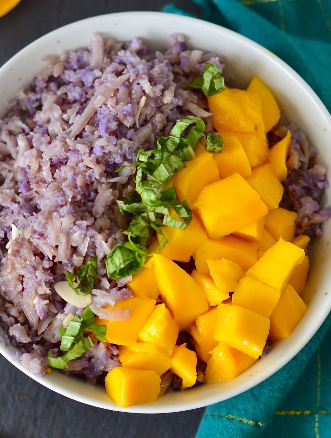 Mango Coconut Cauliflower Rice