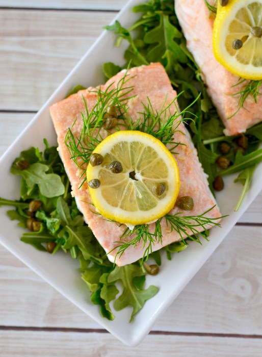 Lemon Dill Baked Salmon with Caper Aioli | Real Food with Dana