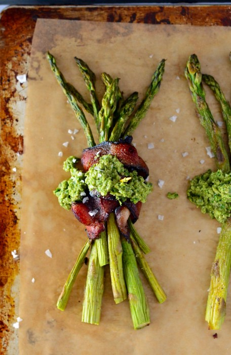 Bacon-Wrapped Asparagus with Garlic Scape Pesto | Real Food with Dana