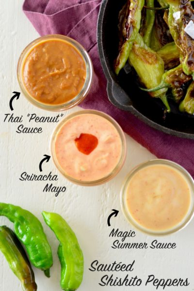 Sautéed Shishito Peppers with Creamy Sriracha Sauce, 3 Ways | Real Food with Dana