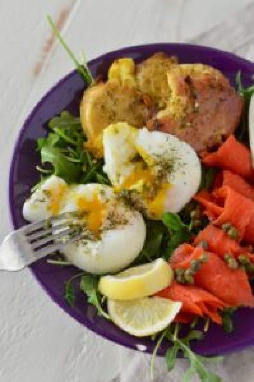 Poached Egg & Smoked Salmon Salad   Real Food with Dana