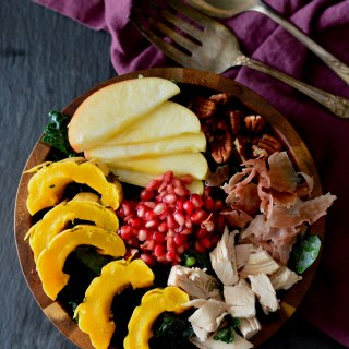 Fall Harvest Salad with Mustard Vinaigrette