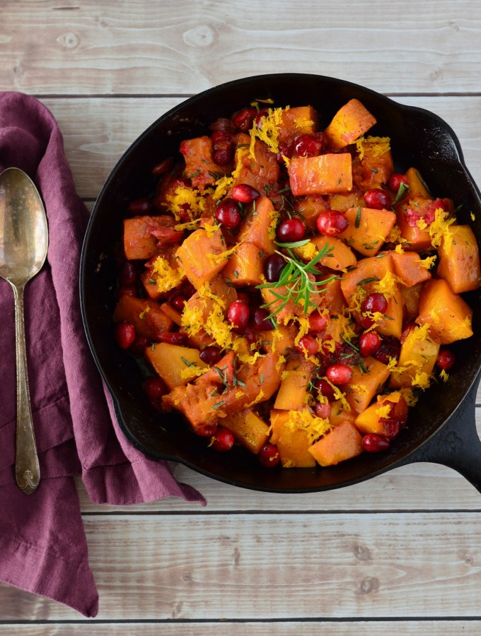 Cranberry-Balsamic Braised Butternut Squash