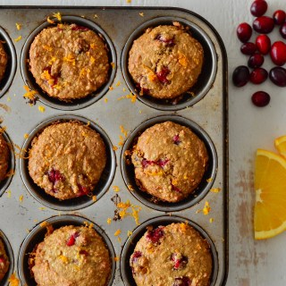 Cranberry Olive Oil Muffins with Orange Zest