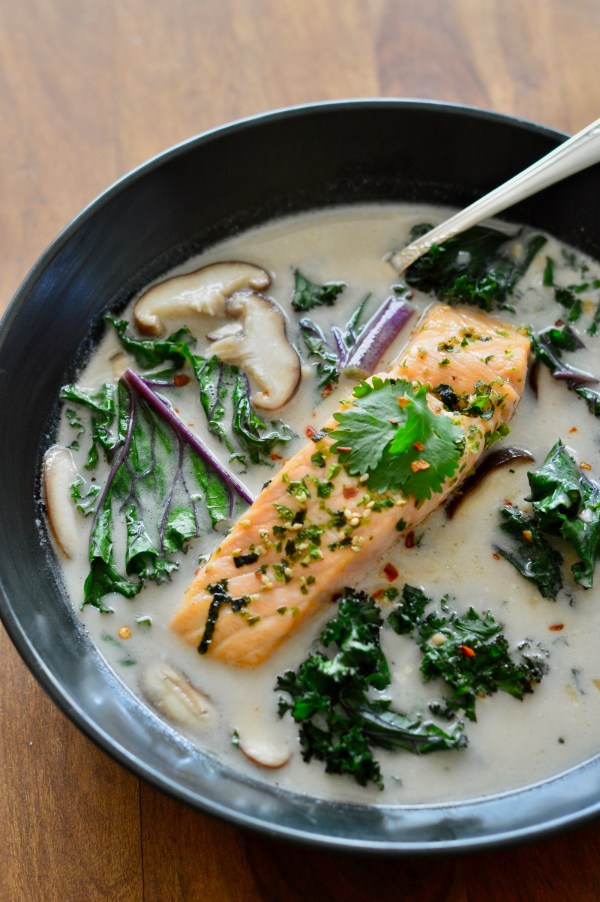 Paleo Thai Coconut Soup with Salmon & Kale | Real Food with Dana