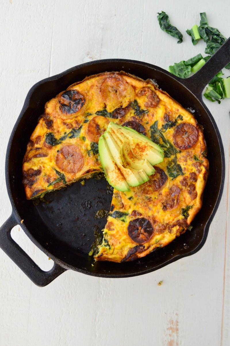 Old Bay Sausage, Plantain & Kale Frittata | Real Food with Dana