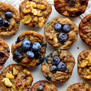 Paleo Banana Bread Muffins, 3 Ways