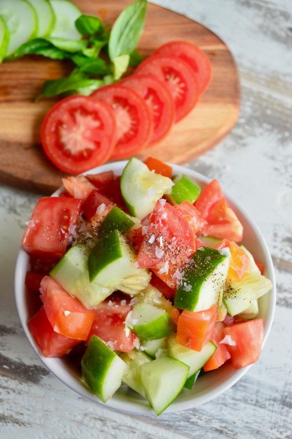Balsamic Tomato Cucumber Salad (Paleo, Whole30) | Real Food with Dana
