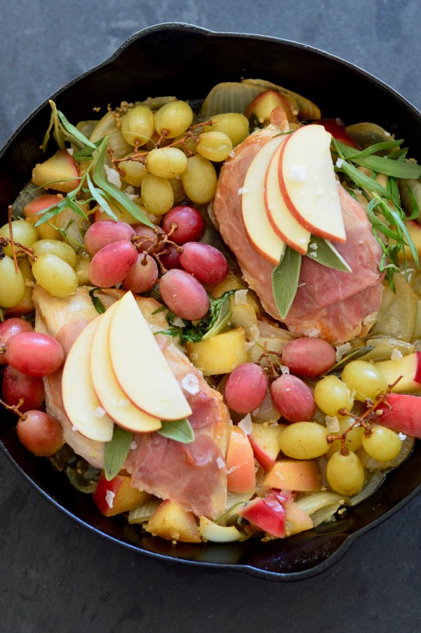 One-Pan Herb Chicken with Roasted Grapes & Apples | Real Food with Dana