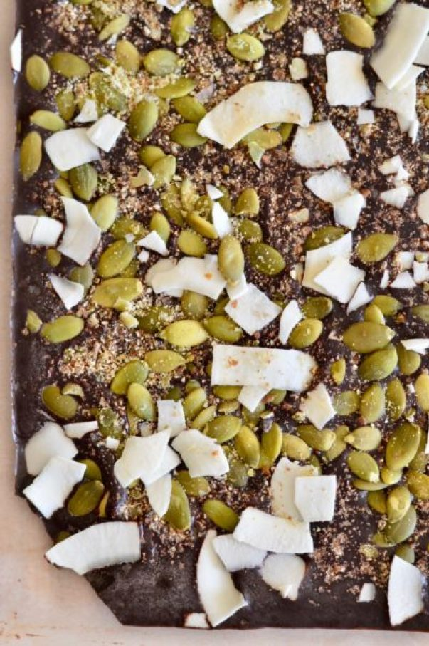 how to use seed cycling for hormonal balance + a dark chocolate bark recipe to cycle your seeds! | Real Food with Dana