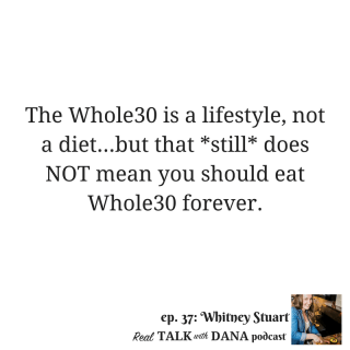 37 | Whole30 Mindset Tips, Problems with Gluten-Free, and Popular Nutrition Myths with Whitney Stuart