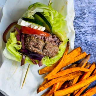 Lettuce Wrapped Mediterranean Lamb Burgers | Real Food with Dana