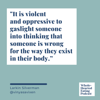 Rebelling against toxic postpartum body ideals and gaslighting in the fitness industry with Larkin Silverman