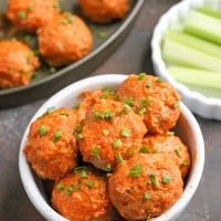 Paleo Whole30 Buffalo Meatballs with Ranch
