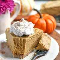 Paleo Vegan Pumpkin Cheesecake
