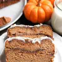 Paleo Pumpkin Cinnamon Roll Bread