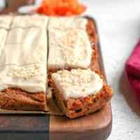 Paleo Nut Free Carrot Cake Bars