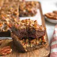 Paleo Pecan Praline Brownies