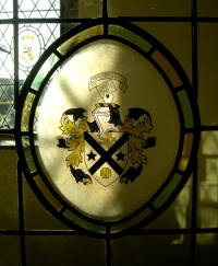 The Heraldic Arms of Hampton Hall - how to paint this stained glass coat of arms