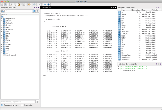 Plot accelerations from CSV file with Scilab