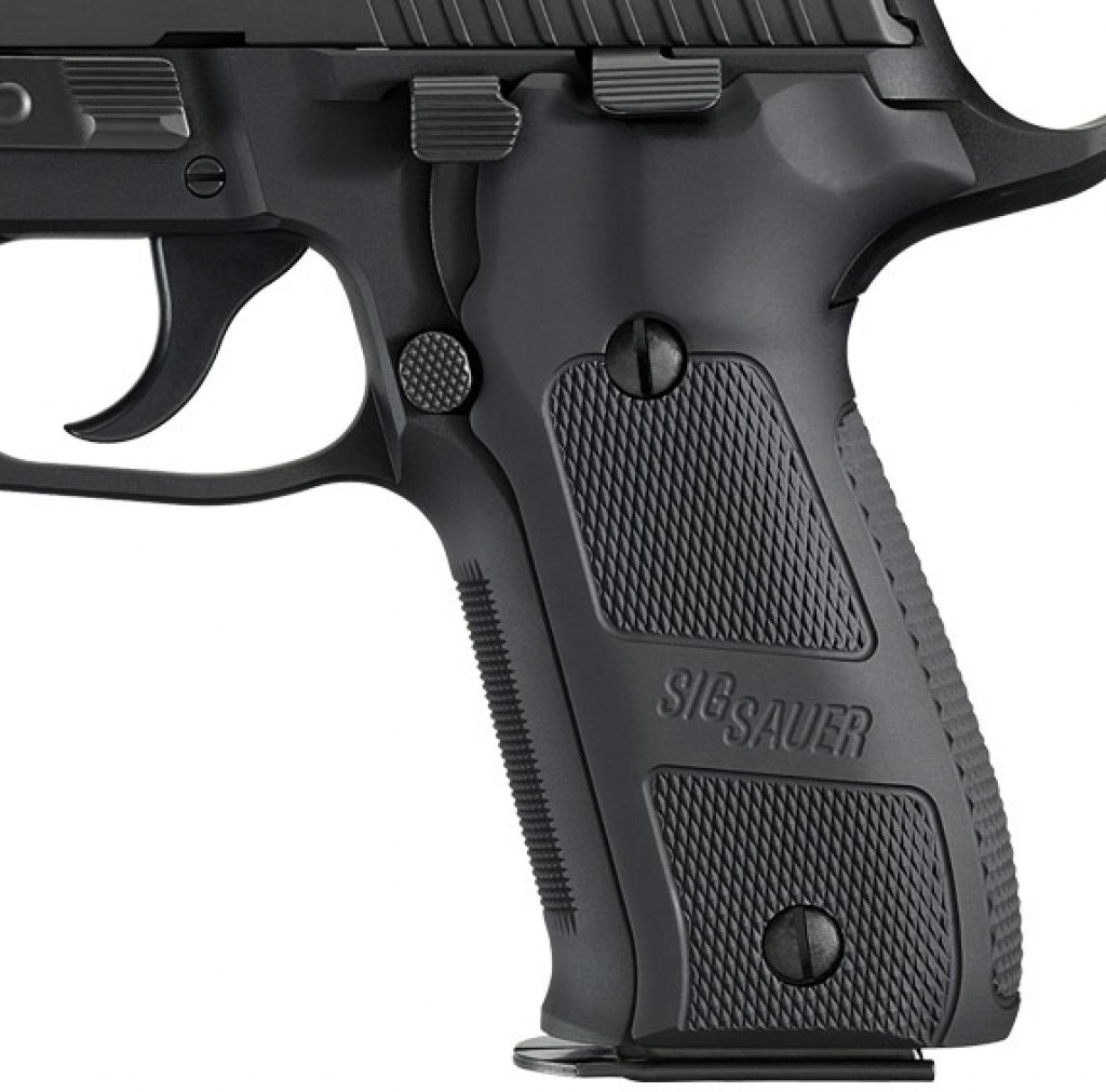 hight resolution of sig logo hogue aluminum grips on the p226 elite dark