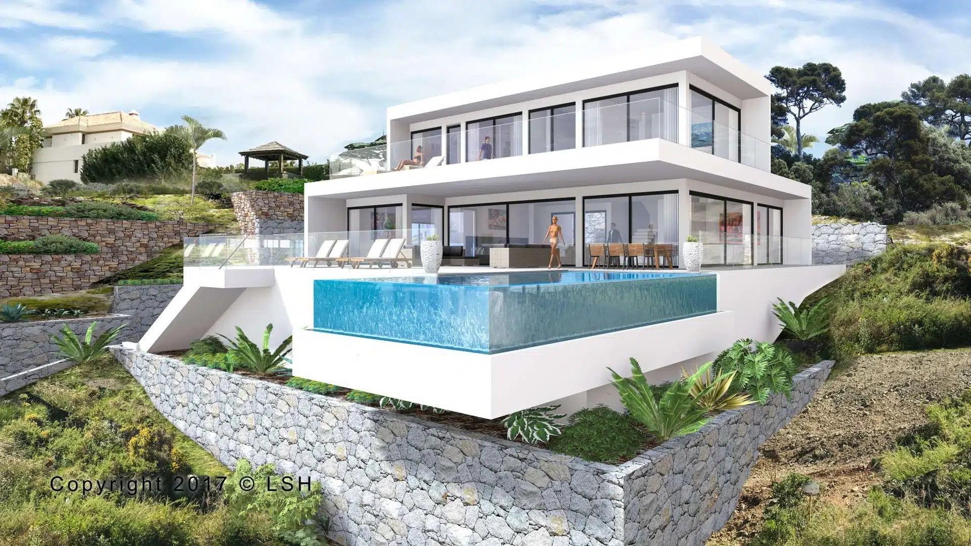 New modern villa in Los Flamingos Golf Resort Benahavis  Realista