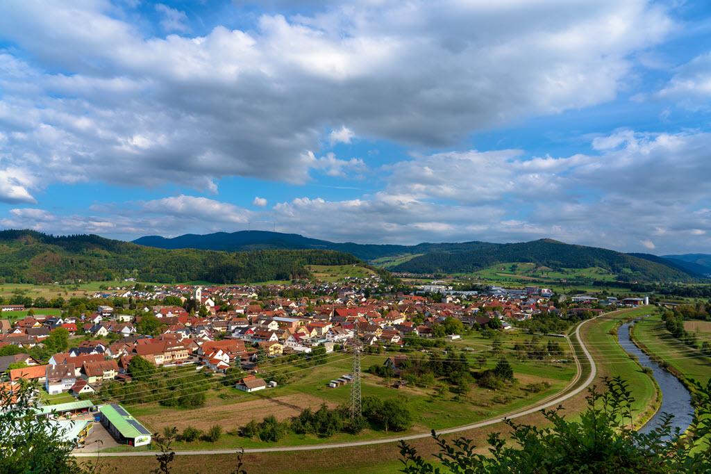 Biberach/Baden von der Konrads-Kapelle aus fotografiert