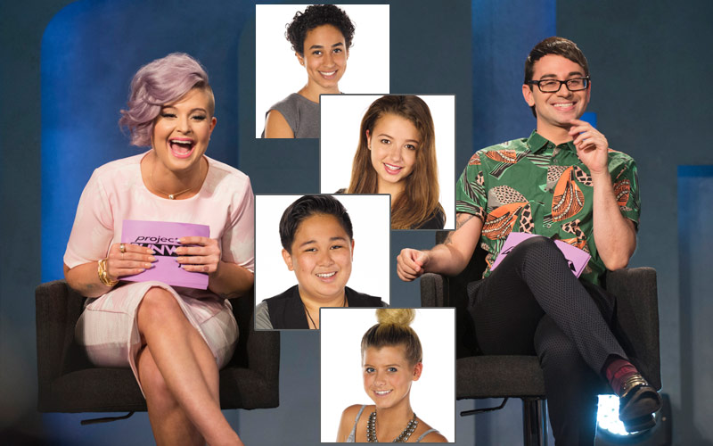 Project Runway Junior finalists Samantha Maya Zachary Peytie Kelly Osbourne Christian Siriano