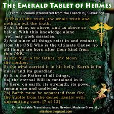 The Emerald Tablet of Hermes – Sacred Text FULL ESOTERIC BREAKDOWN