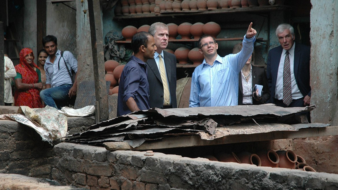 Prince Andrew's Visit To Dharavi.