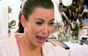 Kim K cry