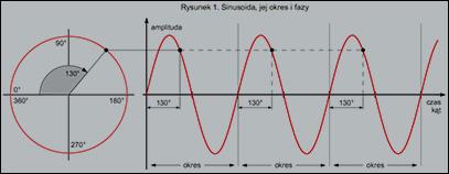 Sinusoida, jej okres i fazy