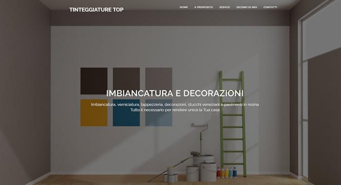 Un esempio di decorazione in velatura eseguita in due colorazioni. Posizionamento Siti Web Per Imbianchini