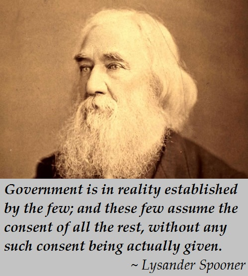 Lysander Spooner - Government consent