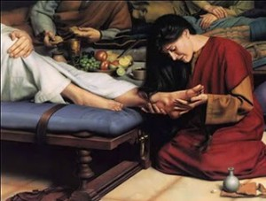 anointing Jesus' Feet