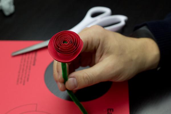 Paper Rose Cutout Step 6